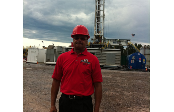Visiting a drill site in Pennsylvania as part of my Marcellus Shale legislation investigation