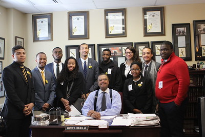 Delegate Holmes and the Bowie State University Students on Bowie State Annapolis Day, 3/2/2017