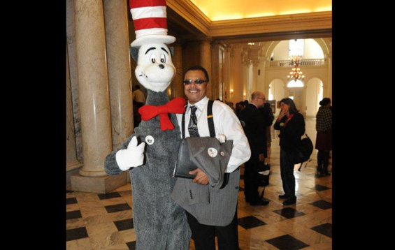 Marvin with the Cat in the Hat!