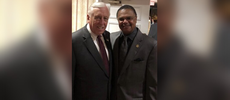 Delegate Marvin E. Holmes, Jr. with Majority Leader Steny Hoyer