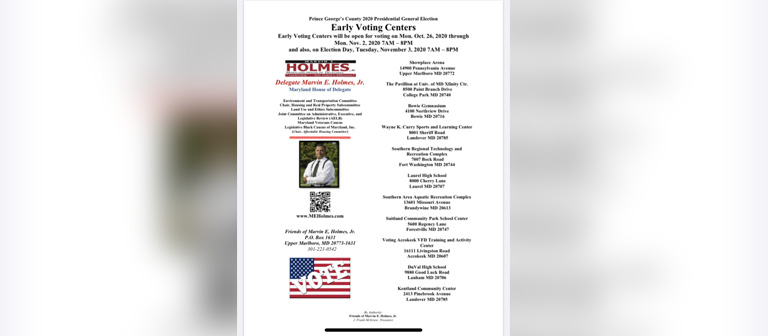 Prince George's County Early Voting Centers